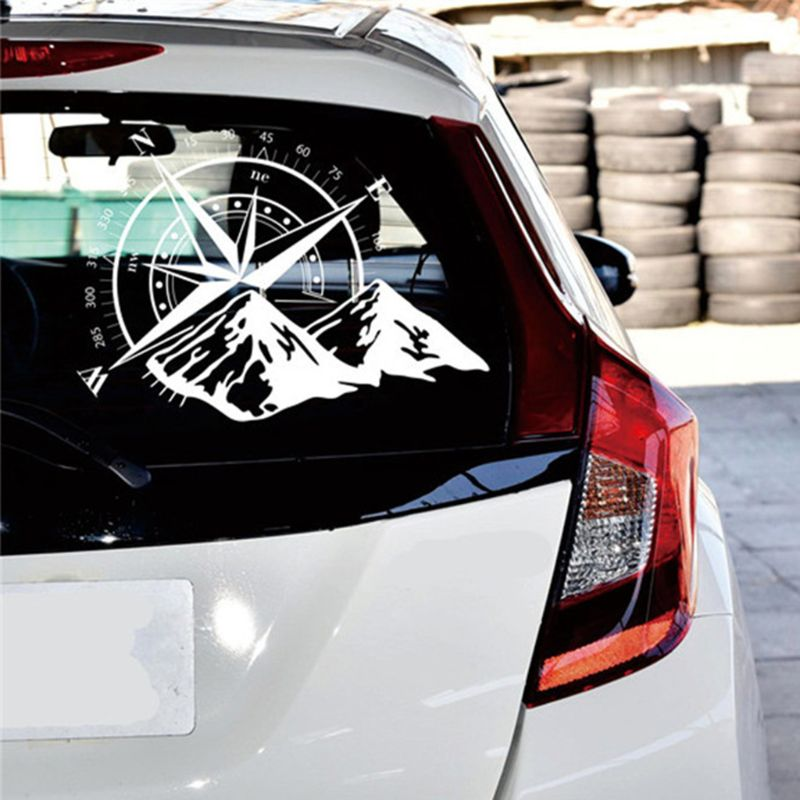 48*34 см внедорожный компас автомобильный стикер Роза навигационная виниловая наклейка Декаль для автомобиля грузовика Авто ноутбук двери автомобиля и капот