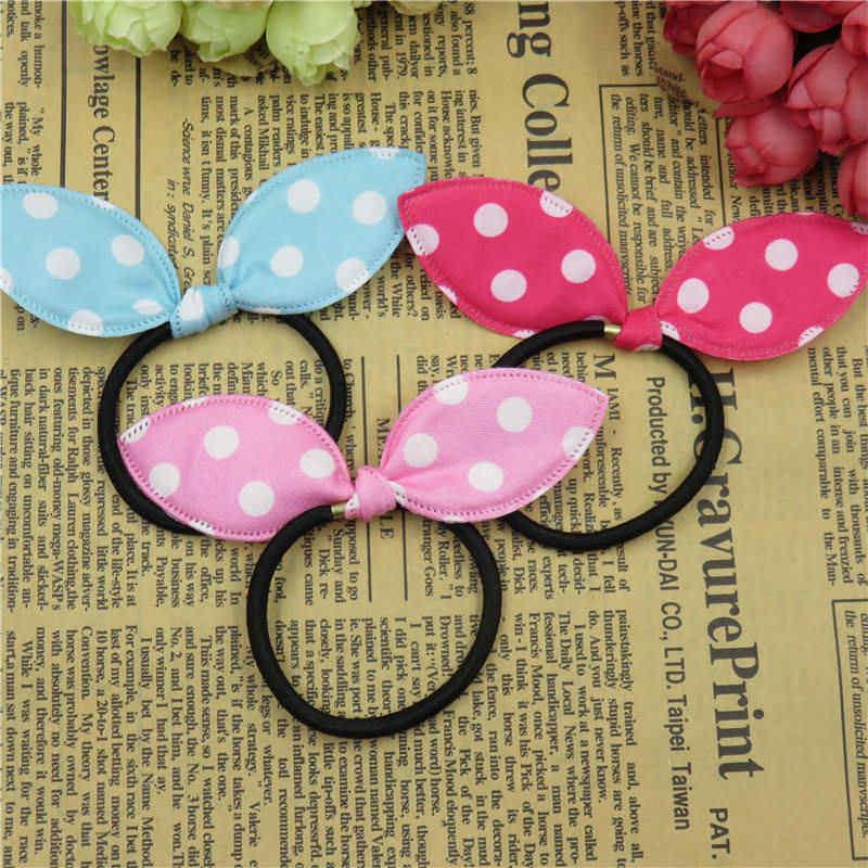 1 sztuk uszy królika gumka do włosów nakrycia głowy, motyl Hairnets, dziecko okrągły wieszak na ręcznik uszy królika gumka do włosów, najlepszy DIY prezent dla dzieci i dziewczyny
