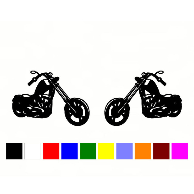 Car sticker 13cm 2 bike biker chopper stickers cartoon oem car tail car body vinyl sticker