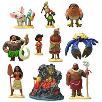 Disney Princess Toys 10pcs/Se 6 11cm Moana Maui Heihei Waialik Chief Tui Pvc Action Figure Doll Collectible Model Toys