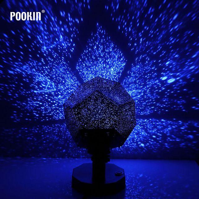 Proyector de luz nocturna LED de Fifth Generation, lámpara de proyección Celestial de olas estrelladas del océano, ciencia, blanco, amarillo, azul, Color estrella del cielo