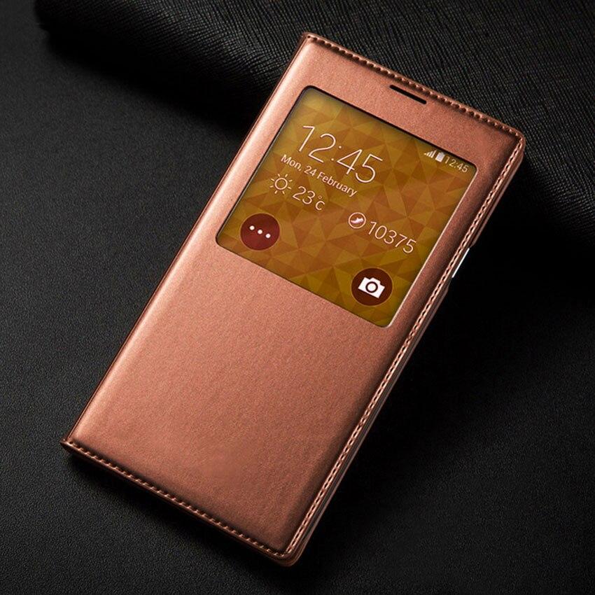 S5 Mini Smart View Auto Sommeil Avec Morceau Original Téléphone Cas cuir Flip Couverture Arrière Pour Samsung Galaxy S5 Mini G800 G800F G800H