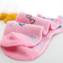 Colorful Cotton Socks for Girls 5 Pairs Set
