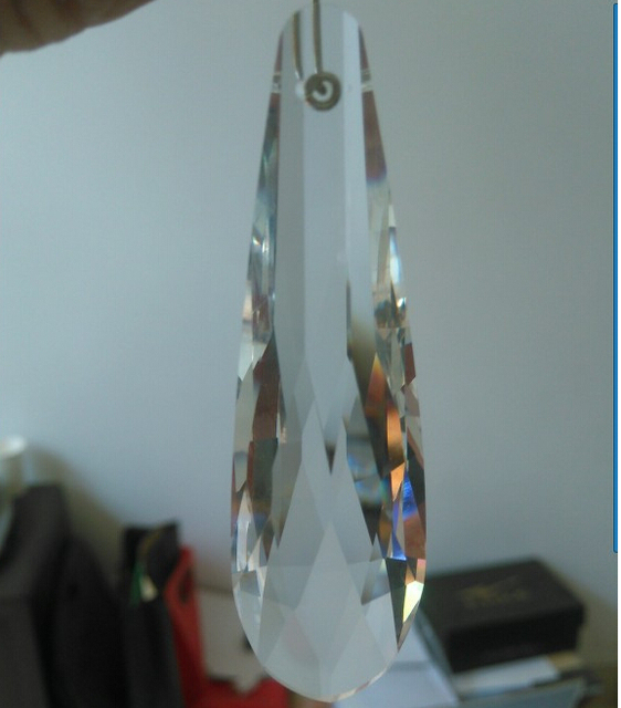 50pcs Lot 76mm Transpa Color Crystal Faceted Chandelier Prism Parts Free