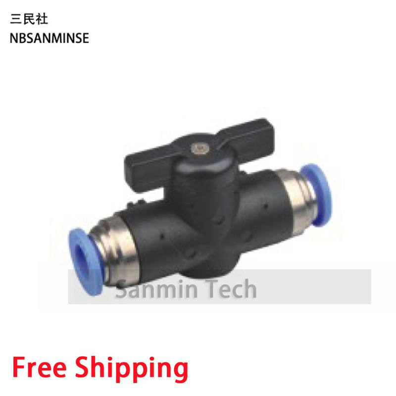Free Shipping 10Pcs/Lot Equal Straight Quick Connection Ball Valve Fittings For Air Compressor Pressure Pneumatic Devices Sanmin 13mm male thread pressure relief valve for air compressor