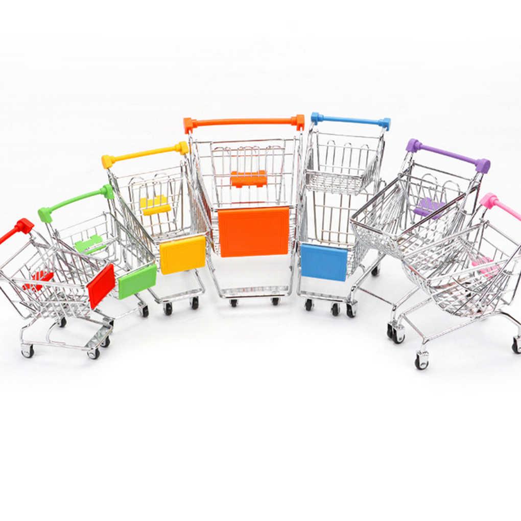 2019 Baru Bayi Anak-anak Simulasi Mini Keranjang Belanja Mainan Gerobak Supermarket Keranjang Penyimpanan Trolley Mainan
