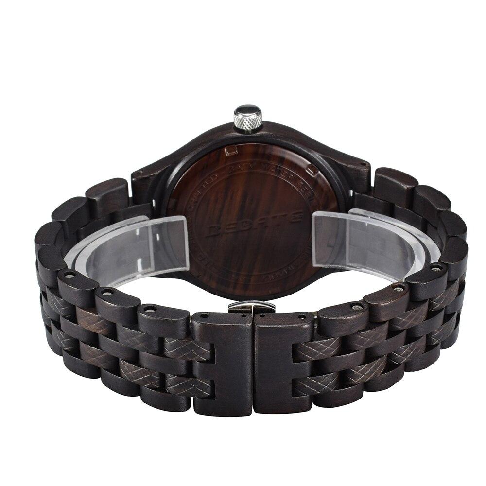 Unique hommes montres 2018 marque de luxe en bois montre étanche Quartz Sport chronographe en bois homme horloge montre homme cadeau boîte 143a - 2