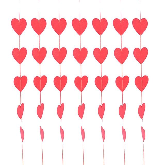 2 Teile/satz Romantische Herzen Vorhang Hängen String Zimmer Decor ...
