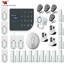 YoBang Security Touch Panel Wireless Wired Home Safety Alarm System App Remote Control Video IP Camera Smoke Fire Sensor .