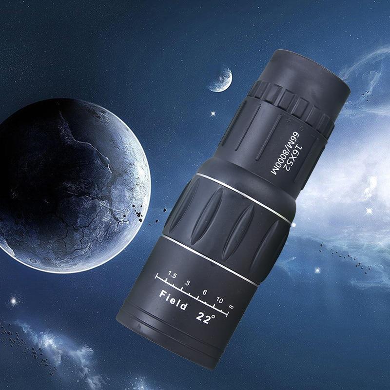 цена на 2018 New Monocular Telescope 16X52 66M/8000M Travel Concert Outdoor HD Monocular Telescope Tourism Scope Binoculars