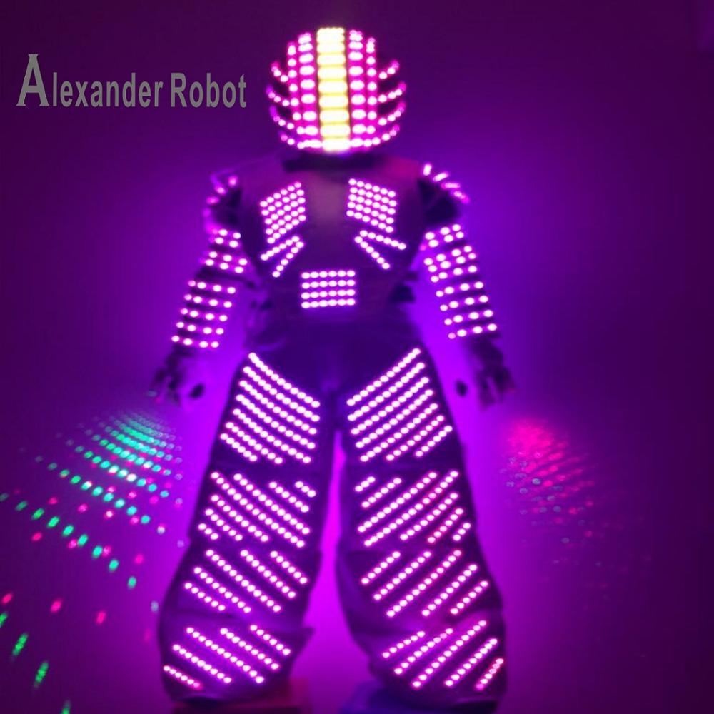 LED Costume /LED Clothing/Light suits/ LED Robot suits/ / custom white, golden robot