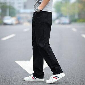 Image 3 - 2020 חדש גברים של קלאסי ישר שחור ג ינס אופנה עסקים מקרית אלסטי רופף מכנסיים זכר מותג מכנסיים בתוספת גודל 40 42 44
