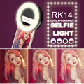 Роскошные Универсальный СВЕТОДИОДНОЙ Вспышкой Света До Selfie Световой Телефон Кольцо Для iPhone 6 6 S Plus LG Samsung Для Xiaomi Huawei Lenovo Oneplus