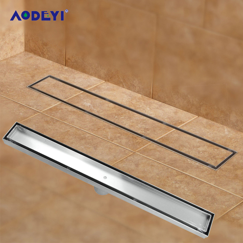 AODEYI 304 нержавеющая сталь 60 см плитка вставка прямоугольная линейная анти-запах пол слив ванная комната оборудование Невидимый душ 11-208
