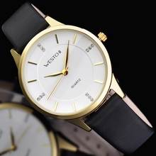 2016 new design women watch top brand WESTCHI watch waterproof 30m casual genuine leather strap wristwatch