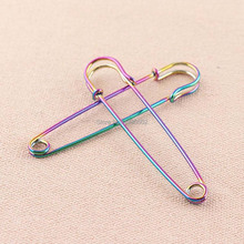 10pcs/lot 3inch rainbow Fashion large size colorful brooch pin Safety Pins decoration for women