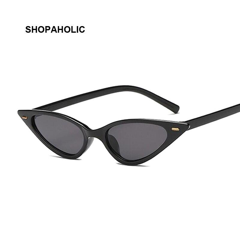 Nuevas gafas De Sol De moda bonitas y sexis para mujer, De ojo De gato, De marca Vintage, pequeñas gafas De Sol negras para mujer, gafas De Sol para mujer