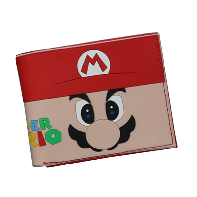 New 2017 Cute Anime Comics Wallet Super Mario Wallet For Men Women Slim Purse Money Bag ID Card Holder Student Cartoon Wallet