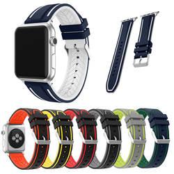 Ремешок для часов Apple Watch Series 4 3 2 1 спортивный ремешок для iWatch мягкий силиконовый сменный ремешок 42 мм 38 мм 44 мм 40 мм