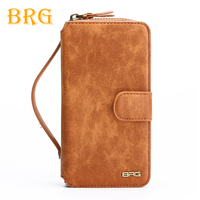 Multifunction Wallet Leather Case For Samsung S4 S5 S6 S7 EDGE S8 NOTE8 NOTE 8 Zipper
