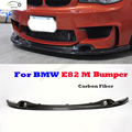 E82 Carbon Fiber D style Front Bumper Lip for BMW E82 M bumper 2012 2013 2014 2015 Car Styling