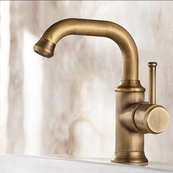 Basin Faucets Antique Color Brass Crane Bathroom Faucets Hot and Cold Water Mixer Tap Contemporary Mixer Tap Sink Faucet Tap hdm bathroom accessories basin faucets antique brass sink faucet basin mixer hot and cold water tap bathroom hotel fixture