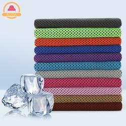 Drop verschiffen Sport Eis Handtuch 9 Farben 90*30cm Utility Ausdauernd Instant Kühlung Gesicht Handtuch Wärme Relief Reusable chill Kühlen Handtuch