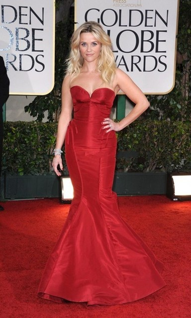 Mermaid Red Carpet Dresses Celebrity Off The Shoulder Sweetheart Satin Pleat Simple Design Fish Tail Long