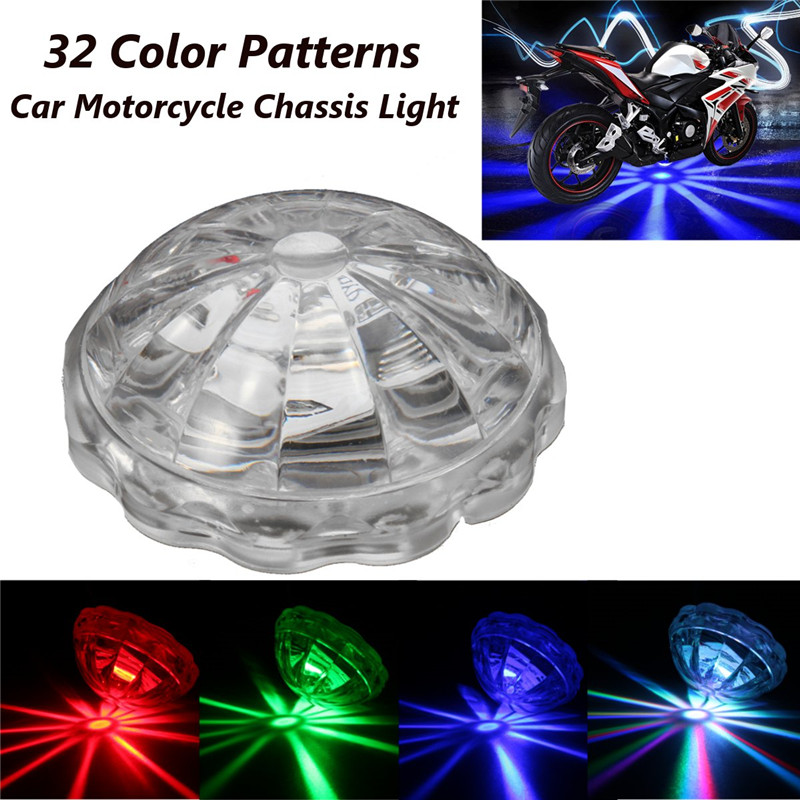 Universal LED Car Motorcycle Chassis Tail Light LED Laser Fog Lights Taillight Anti-fog Parking Stop Brake Warning Lamp 32 Modes for kawasaki z800 2012 2016 motorcycle accessories frame sliders crash protector falling protection orange