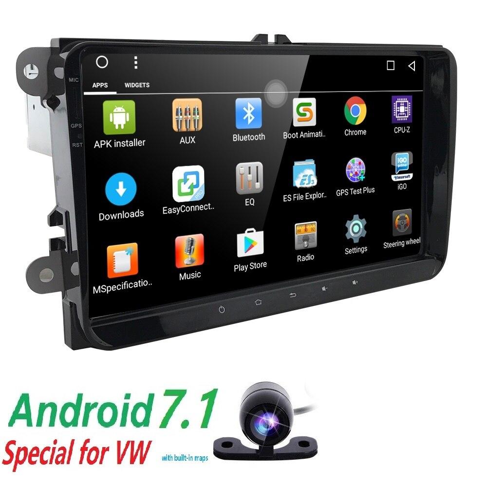 hizpo 2 din android 7 1 car nodvd for vw passat b6 golf 4. Black Bedroom Furniture Sets. Home Design Ideas