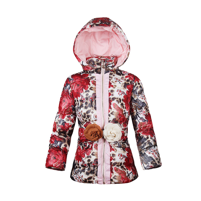 57f35cab0 US $5.07 49% OFF Girls Winter Jackets 2018 Baby Girls Warm Cotton Padded  Coats Flower Print Casual Clothes Kids Thick Jackets Outerwear For Girls-in  ...