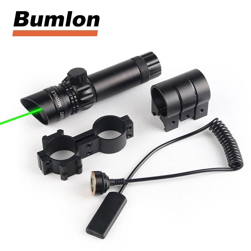 Adjustatble Tactical Green Beam Laser Sight With Rail Mount Laser Emitter for Rifle Gun HT3-0004G