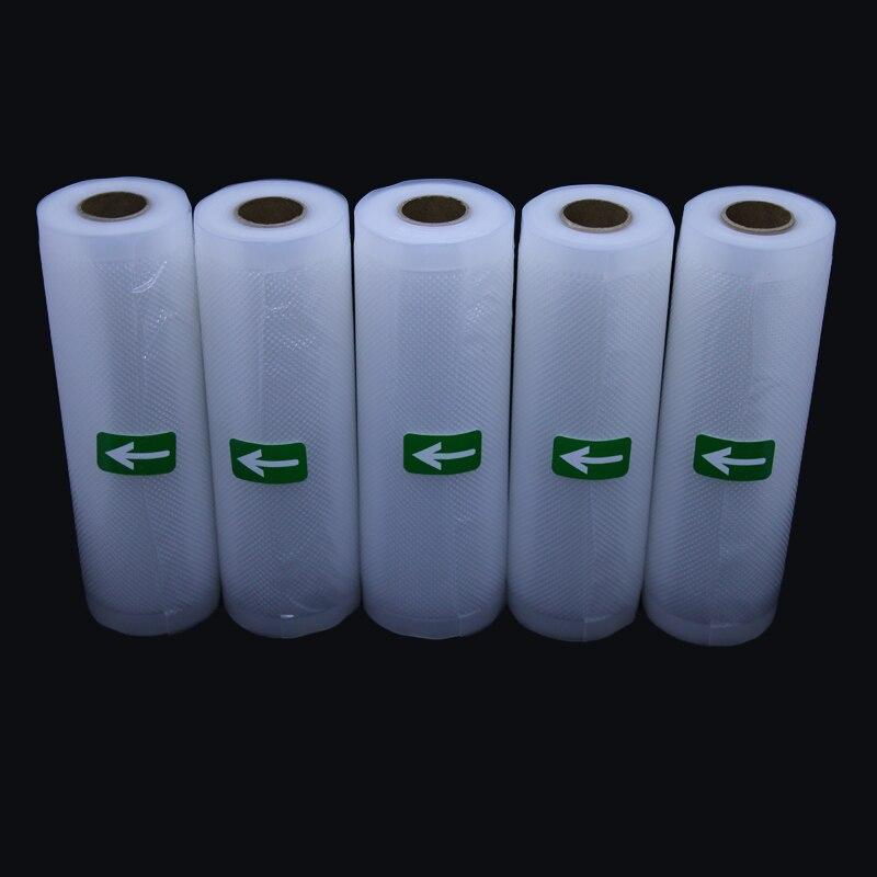 5 Rolls/Lot Kitchen Food Vacuum Storage Bags For Vacuum Packing Sealer Rolls