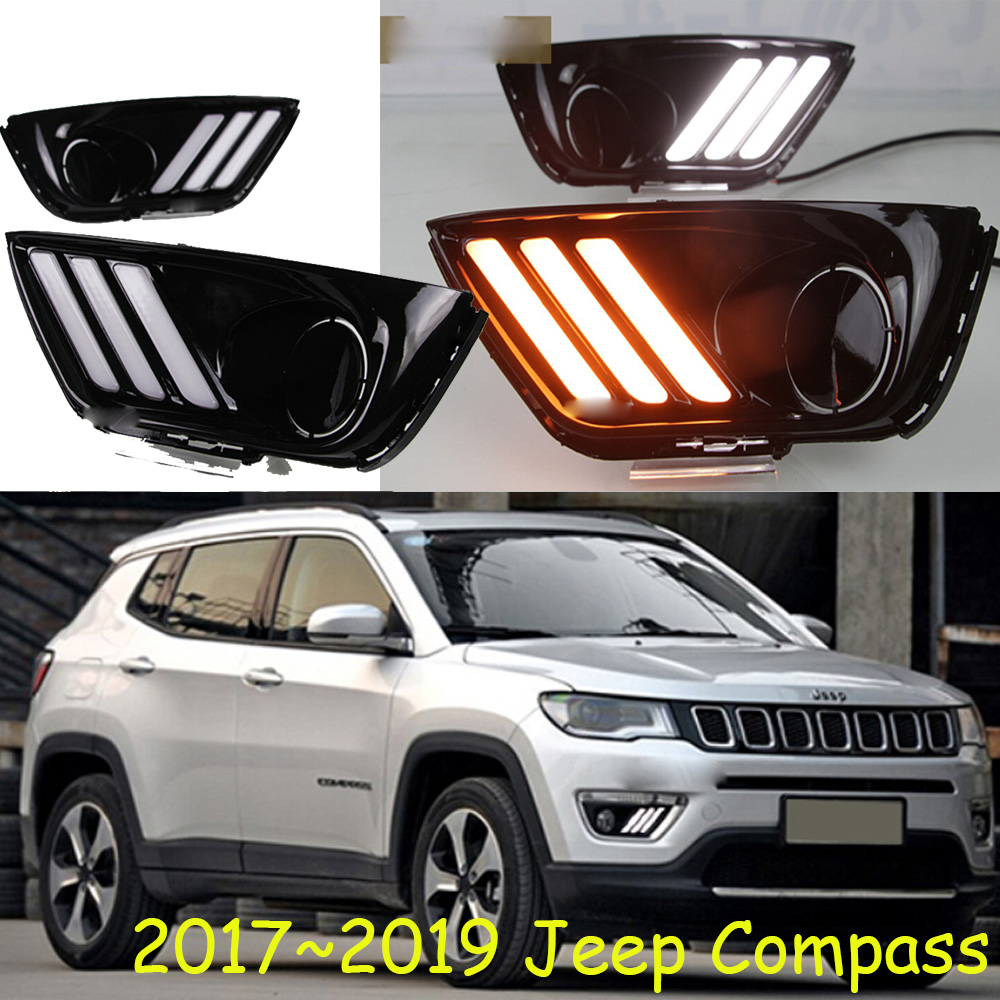Compass daytime light,2017~2019,Free ship!LED,Compass fog light,2ps/set,Compass headlight электроника 2 2019 2 4g 80g hd 2019 in one 80g