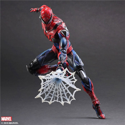 Play Arts 28cm Marvel Spiderman Super Hero Spider Man : Homecoming Action Figure Toys metal gear solid v the phantom pain play arts flaming man action figure super hero