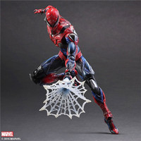 Play Arts 28cm Marvel Spiderman Super Hero Spider Man Homecoming Action Figure Toys