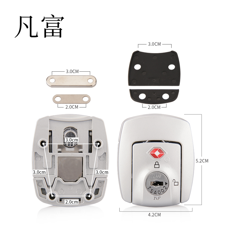 Luggage lock customs lock Anti-Theft Locks 3 digit code suitcase combinations suitcase equipment  Aluminum frame combination loc(China)