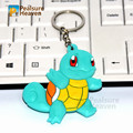 1pcs poke Cartoon Water type Squirtle action figure toy pvc keychain anime cute key ring pendants