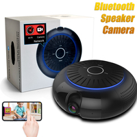 HBUDS Multi Function Portable Wireless Bluetooth Speaker Support TF/SD Card with 1080P Wifi HD Camera Video Recorder Black BOX