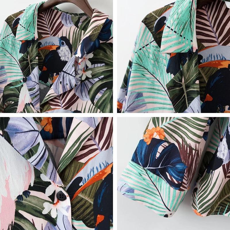 Bella Philosophie 2018 Frauen Sommer tropischen Blumen Vögel drucken - Damenbekleidung - Foto 6