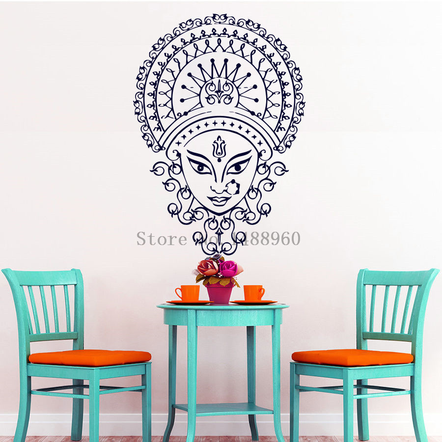 E635 Wall Stickers Home Decor Wall Vinyl Mural Decals Hand Hamsa Yoga Fatima Indian Buddha Ganesh Elephant