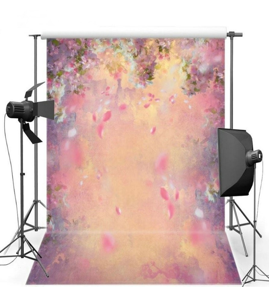 Bokeh Flowers Wedding: Bokeh Pink Purple Flower Backdrops Vinyl Cloth High