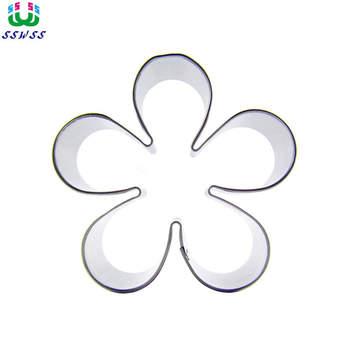 Pięć klap duży kwiat śliwy kształt lukier dekoracyjny do ciasta narzędzia tnące, ciasto kwiatowe ciasteczka do pieczenia ciastek, sprzedaż bezpośrednia