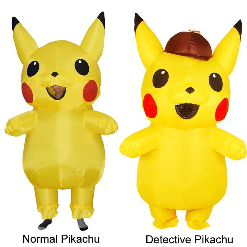 Adults Kids Inflatable Pikachu Costume Pokemon Detective Pikachu Cosplay-2 (2)