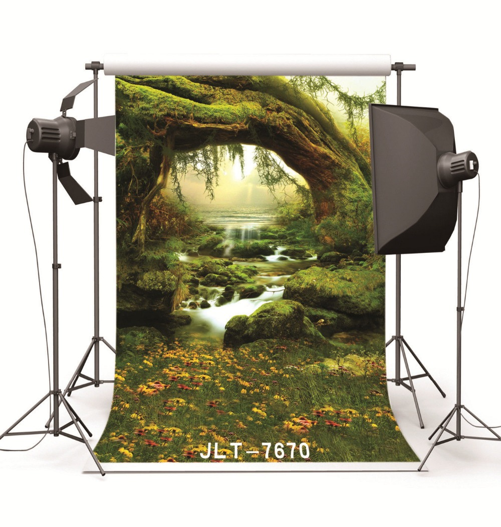 Backgrounds for Photo Studio Photography Scenic Fantasy Forest Steam Computer Printed Photo Backdrops for Wedding Children image
