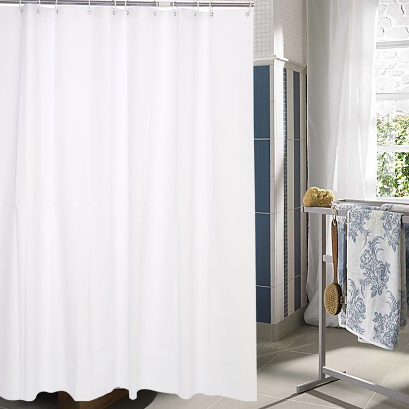 PEVA Shower Curtains White opaque flower printed Bath curtain Waterproof mould proof Bathroom Curtain Cortina De Bano