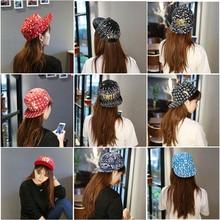 Korean feminine hip-hop cap summer time Baseball Cap Hat flat hip-hop vogue males's leisure autumn peaked cap hat