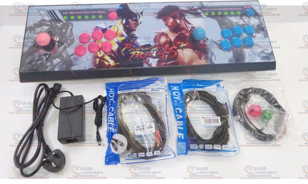 Новое Прибытие сплава коромысла игры ящик Пандоры 4С + 2 игрока, аркады домашней консоли джойстик 815 семейные игры для дома HDMI выход VGA