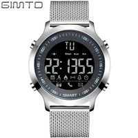2017 GIMTO Men S Smart Watch Sport Clock Silver Iphone Android Bluetooth Pedometer Casual Wristwatch For