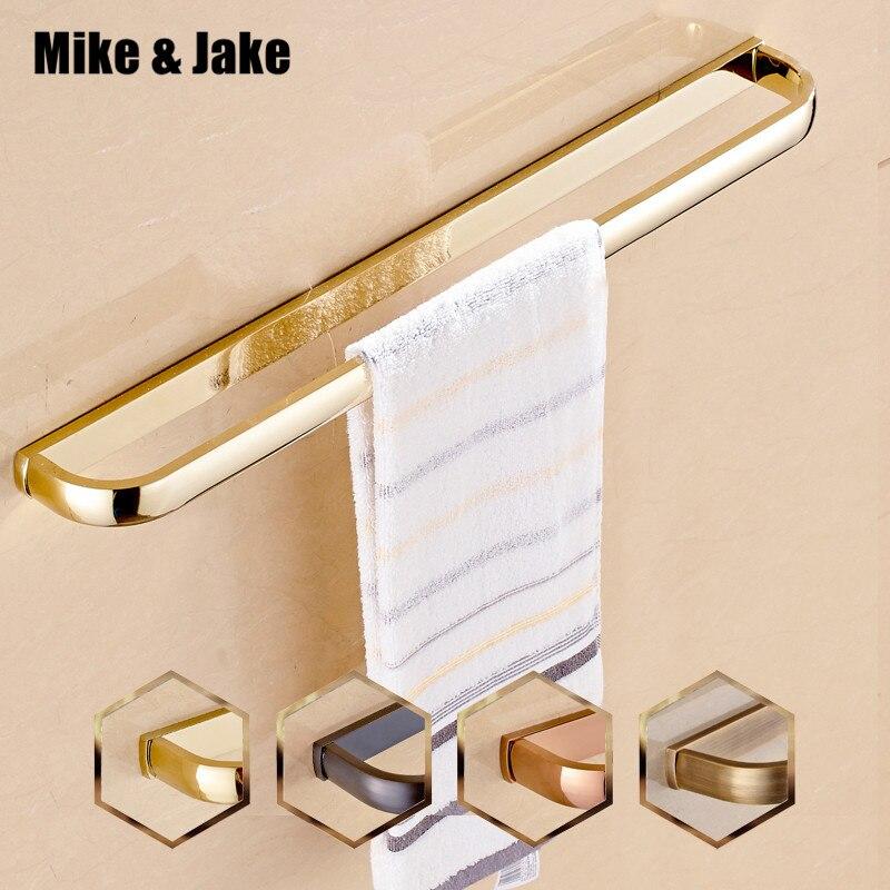 Luxury gold single Towel Bar,golden Towel Holder,Solid Brass Made,Gold European style Bath towel bar Bathroom Accessories
